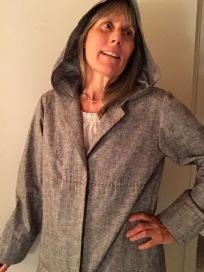 Gray spring coat